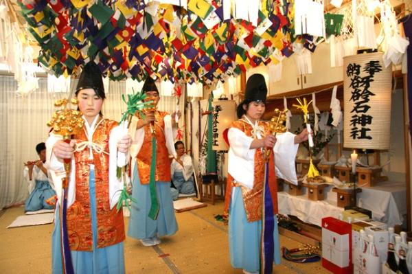 八幡の舞(2010年(平成22年)1月16日撮影)の写真1